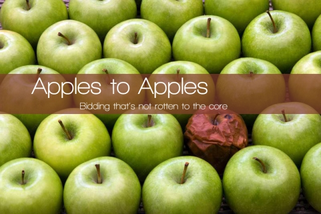 bad apples to apples