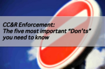 5 most important DONTS