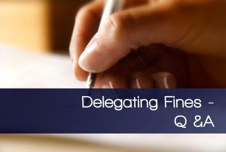 delegating fines