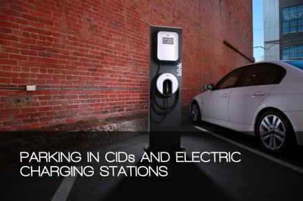 parking i cids and electric charging stations